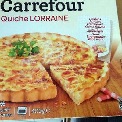 Quiche lorraine surgelée (Carrefour)