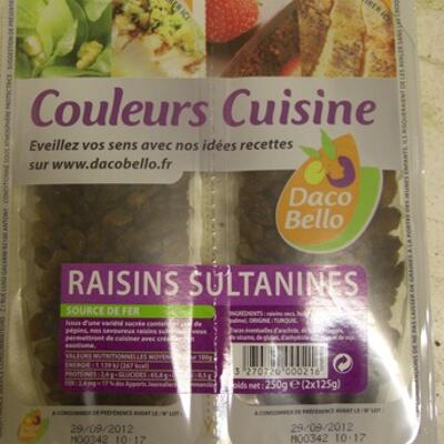 Couleurs cuisine raisins sultanines (Daco bello)
