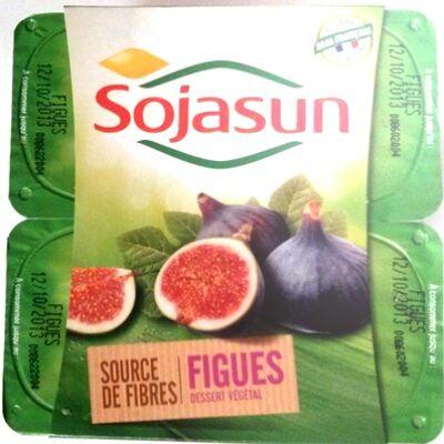 Dessert végétal, figues (4 pots) (Sojasun)