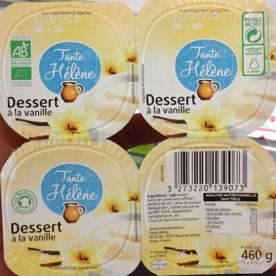 Dessert à la vanille (Tante hélène)