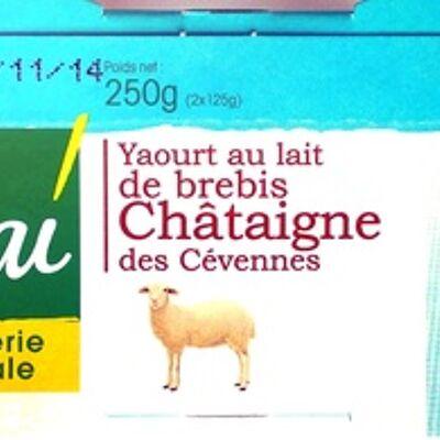 Yaourt au lait de brebis - châtaignes des cévennes (Vrai)