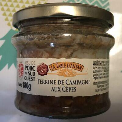 Terrine de campagne aux cêpes (La table d'antan)