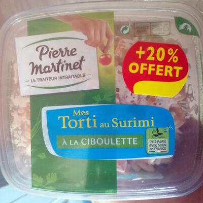 Mes torti au surimi à la ciboulette (+20 % offert) (Pierre martinet)