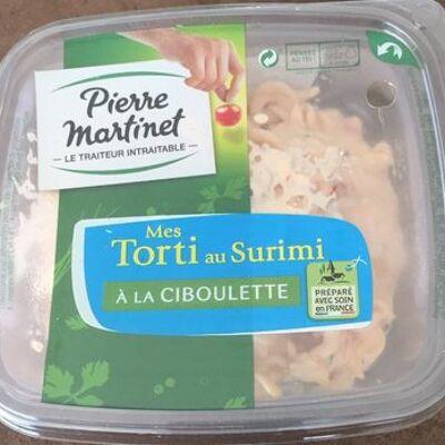 Mes torti au surimi à la ciboulette (Pierre martinet)