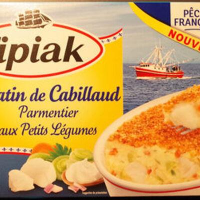 Gratin de cabillaud parmentier aux petits légumes (Tipiak)