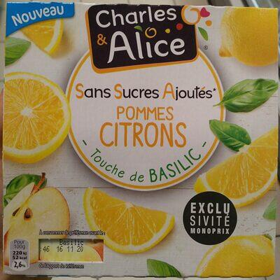 Compote pommes citrons basilic (Charles & alice)