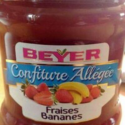 Confiture allégée fraises bananes (Beyer)