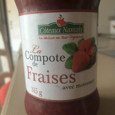 La compote de fraises avec morceaux (Côteaux nantais)