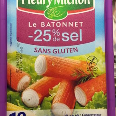Le bâtonnet (- 25 % de sel - sans gluten) 18 bâtonnets (Fleury michon)