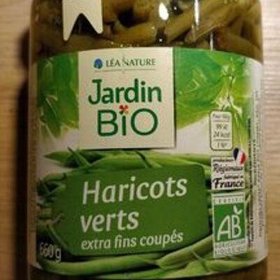 Haricots verts extra fins coupés bio (Jardin bio)