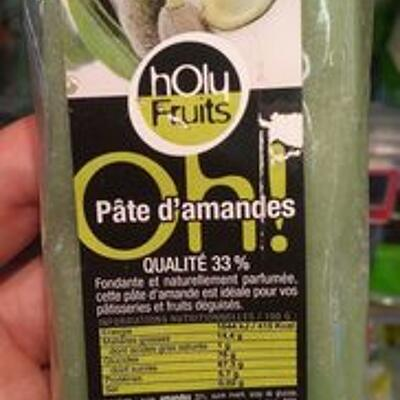 Pâte d'amandes 33%, verte (Holy fruits)