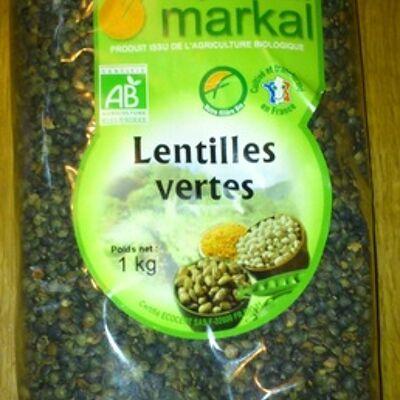 Lentilles vertes bio - 1 kg - markal (Markal)