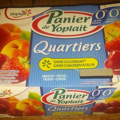 Panier yoplait quartiers 0% (Yoplait)