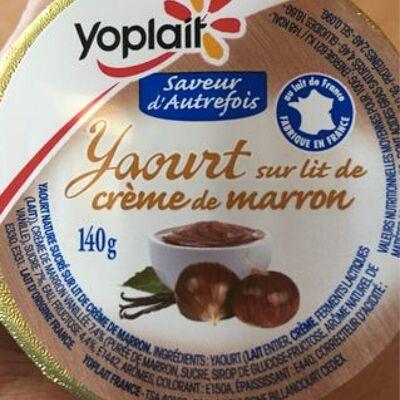 Yaourt sur lit de crème de marron vanillée (Yoplait)