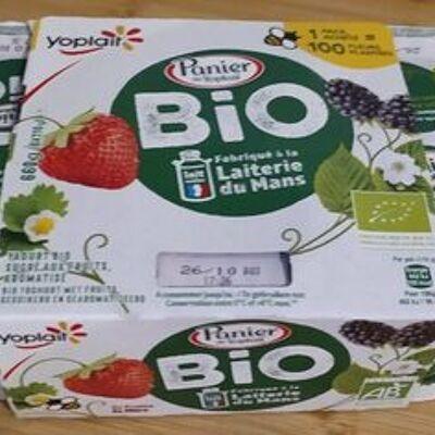 Panier de yoplait bio aromatisés aux fruits (Yoplait)