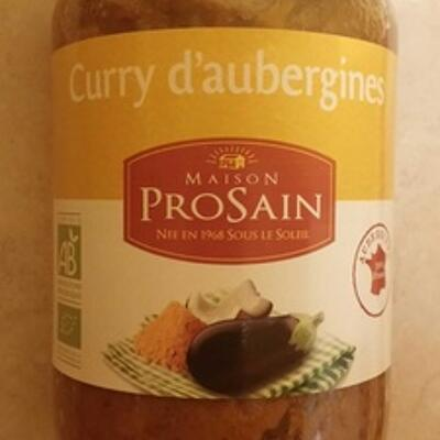 Curry d'aubergines (Prosain)