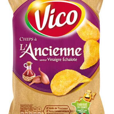 Chips a l'ancienne, saveur vinaigre échalote (Vico)