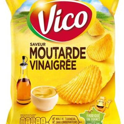 Chips moutarde vinaigrée 120g (Vico)