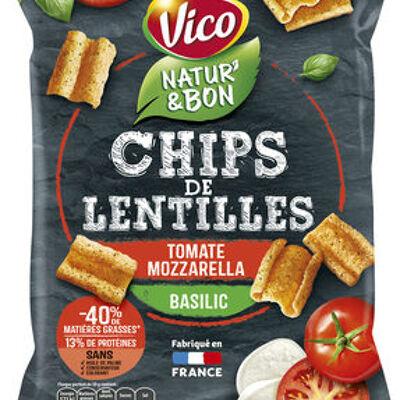 Chips de lentilles tomate mozzarella basilic (Vico)