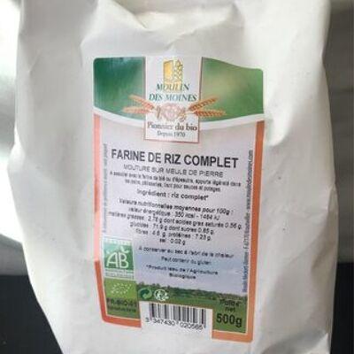 Farine de riz complet (Moulin des moines)