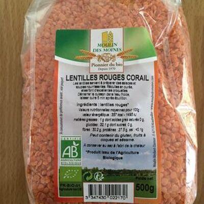 Lentilles rouges corail (Moulin des moines)