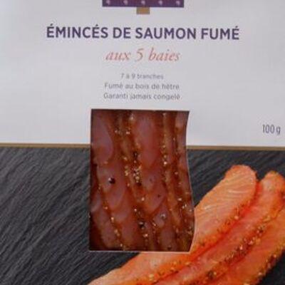 Emincés de saumon atlantique, fumés aux 5 baies (Monoprix gourmet)