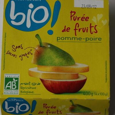 Purée de fruits pomme poire (Monoprix)