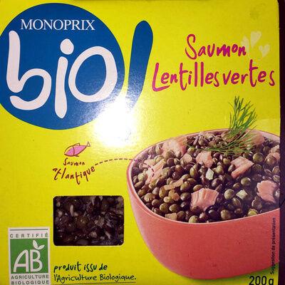 Saumon lentilles vertes (Monoprix bio!)