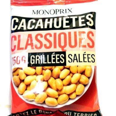 Cacahuètes grillées et salées (Monoprix)