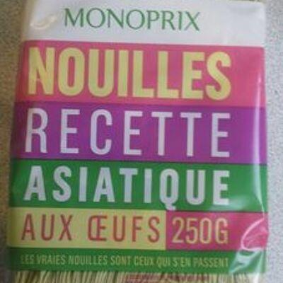 Nouilles recette asiatique aux oeufs (Monoprix)