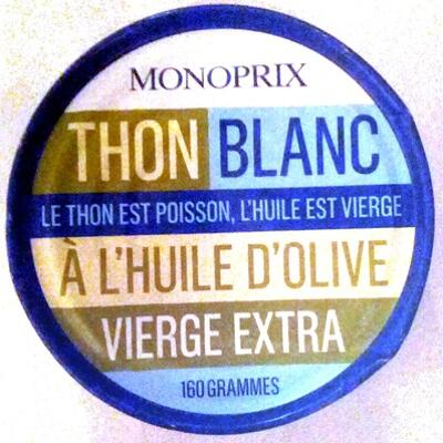 Thon blanc entier à l'huile d'olive vierge extra (Monoprix)