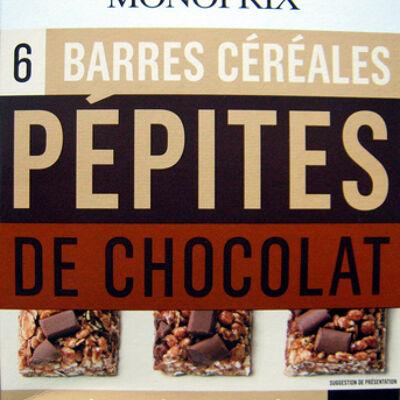 6 barres céréales pépites de chocolat monoprix (Monoprix)