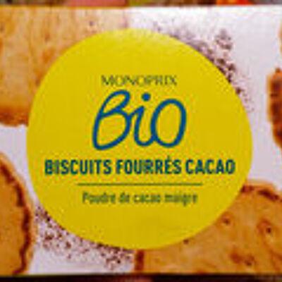 Goûter fourrés cacao (Monoprix bio)