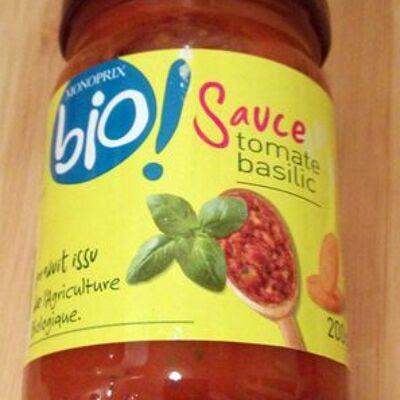 Sauce tomate basilic (Monoprix bio)