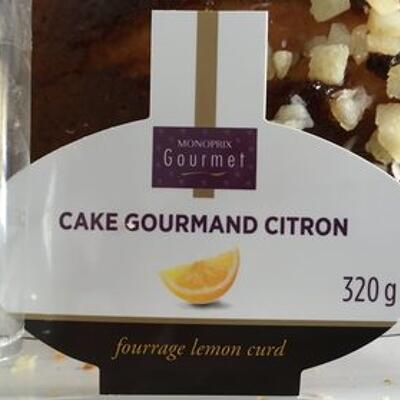 Cake gourmand citron (Monoprix gourmet)