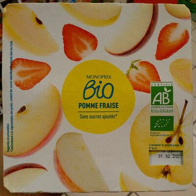 Purée de fruits pomme fraise (Monoprix bio)