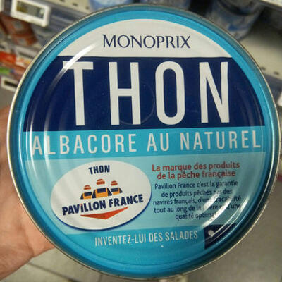 Thon albacore au naturel (Monoprix)
