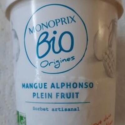 Sorbet mangue alphonso (Monoprix bio)