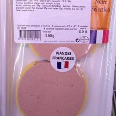 Mousse pur canard, 2 médaillons (Prunier)