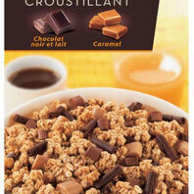 Muesli croustillant chocolat au lait et chocolat noir caramel (U saveurs)