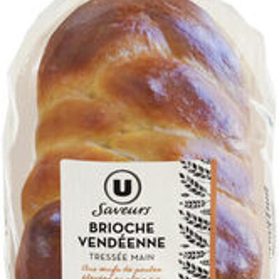 Brioche vendéenne tréssée oeufs plein air label rouge (U saveur)