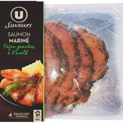 Saumon mariné façon graviax à l'aneth (U)