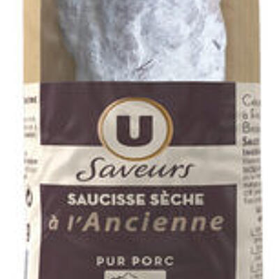 Saucisson sec pur porc à l'ancienne (U saveurs)