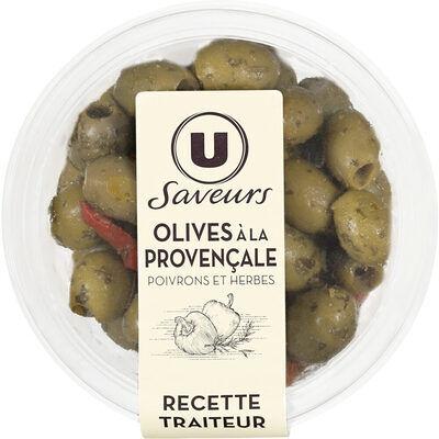 Olives à la provençale avec poivrons et herbes aromatiques saveurs (U saveurs)