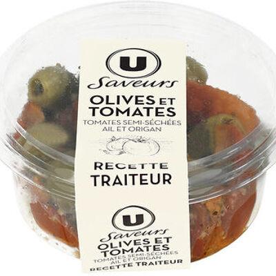 Olives et tomates semi séchées (U saveurs)
