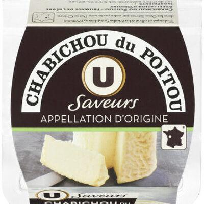 Chabichou du poitou aop au lait de chèvre pasteurisé 25% de matière grasse saveurs (U saveurs)