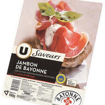 Jambon de bayonne 12 mois (U saveurs)