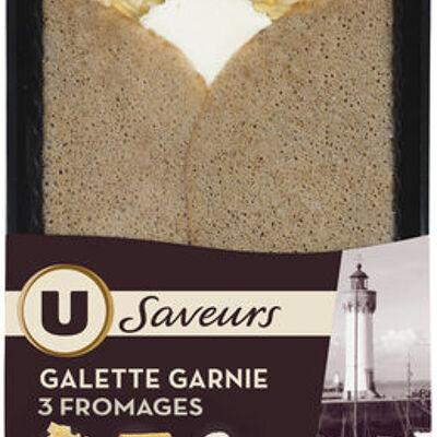 Galette garnie 3 fromages (U saveurs)
