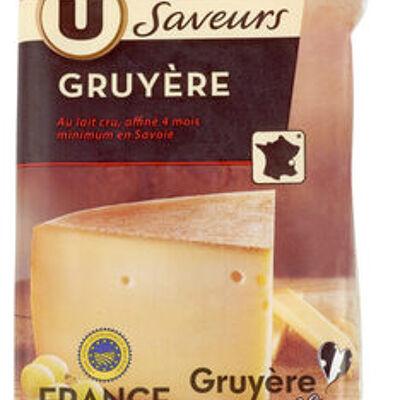 Gruyere igp au lait cru 32% de mg (U saveurs)
