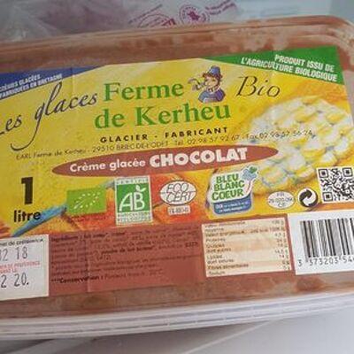 Crème glacée chocolat (Ferme de kerheu)